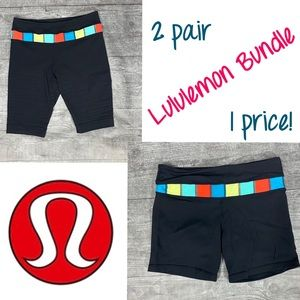 Lululemon 2 pair Groove Shorts Bundle